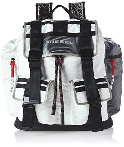 Diesel Men's M-CAGE Back-Backpack, white/black UNI