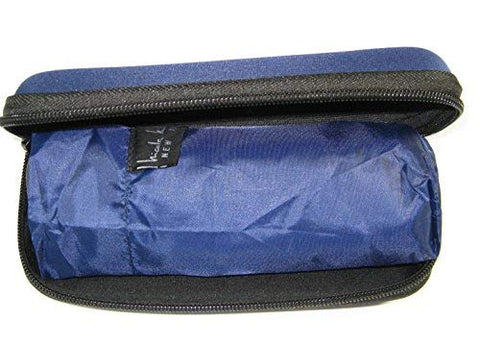 Nicole Miller Micro Mini Umbrella with Hard Eyeglass Carrying Case Dark Blue
