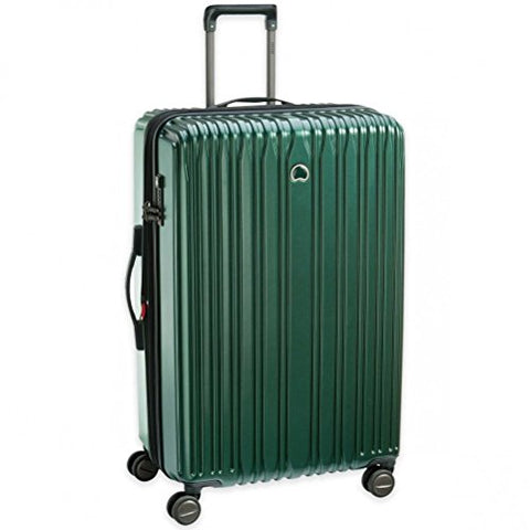 "Delsey Unisex 29"" Chromium Lite Expandable Spinner Upright Emerald One Size"