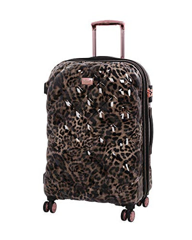 "it Girl 26.8"" Opulent 8 Wheel Hardside Expandable Spinner with TSA Lock, Leopard"