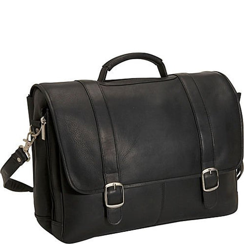 David King & Co. Porthole Laptop Briefcase, Black, One Size