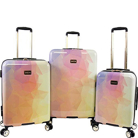 BEBE Women's Emma 3 Pc Spinner Suitcase Set, Gradient Poly