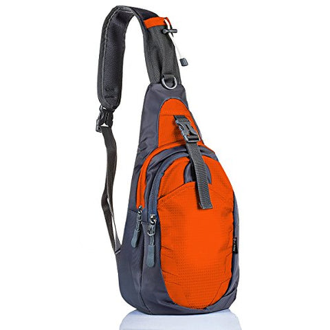 Lc Prime Sling Bag Backpack Chest Shoulder Compact Fanny Sack Satchel Outdoor Bike Nylon Fabric