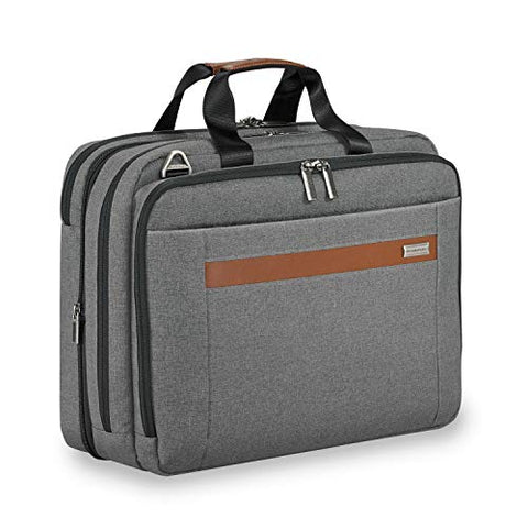 Briggs & Riley Kinzie Street Medium Expandable Brief Briefcase, Grey, One Size