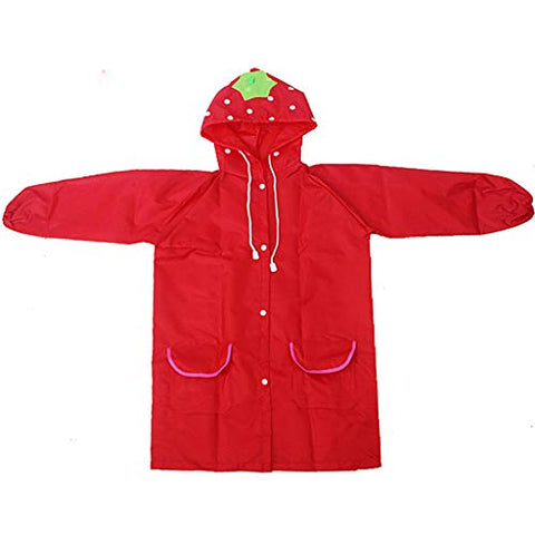 AutumnFall Toddler Rain Jacket Girls Boys Cute Cartoon Animal Raincoat Waterproof Hooded Long