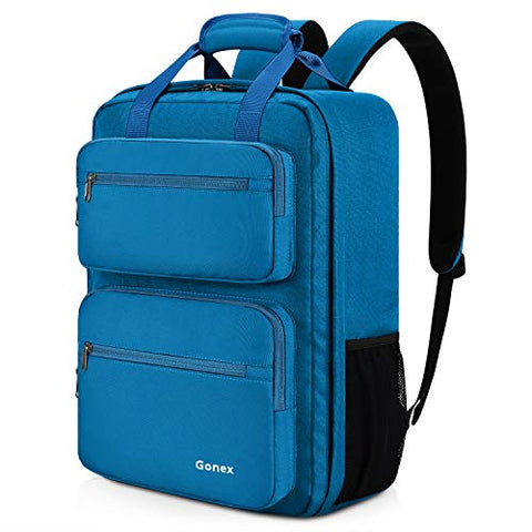 Gonex 35L Travel Backpack, Durable & Water-Repellent Oversized Backpack with Multiple Pockets for Travel, Hiking,Camping Cobalt Blue