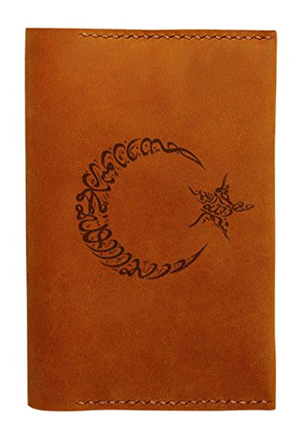 Moon And Start Symbol Handmade Genuine Leather Passport Holder Case Hlt_01