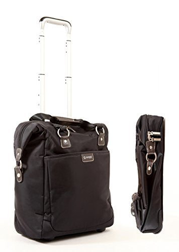 "Biaggi Luggage Contempo 18"" Foldable Wheeled Fashion Tote, Black"
