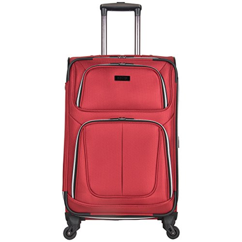 "Kenneth Cole Reaction Lincoln Square 24"" 1680D Polyester Expandable 4-Wheel Upright Pullman, Red"