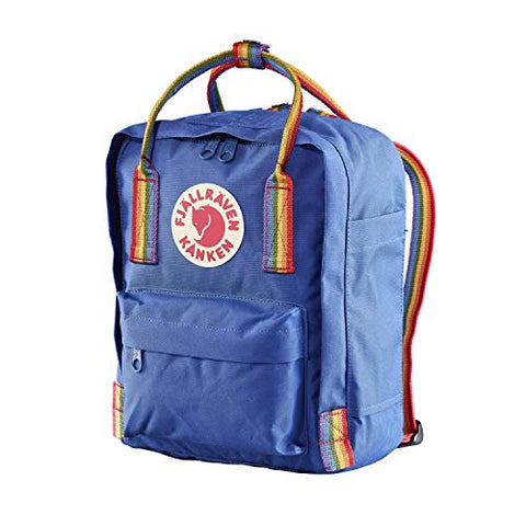 Fjallraven - Kanken Rainbow Mini, Deep Blue-Rainbow Pattern
