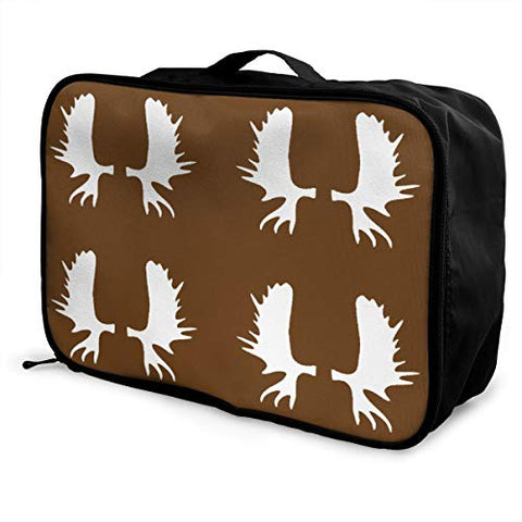 WaterProof Duffel Bag For Travel, Moose Antlers Portable Luggage Bag