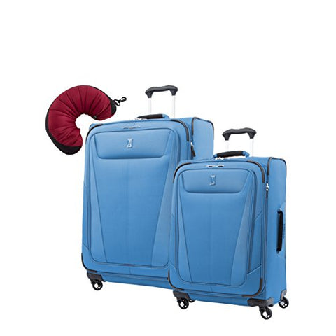 "Travelpro Maxlite 5 | 3-PC Set | 25"" & 29"" Exp. Spinners with Travel Pillow (Azure Blue)"