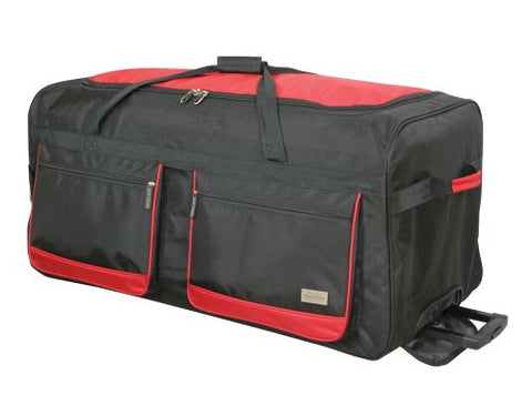 Geoffrey Beene 36 Inch Duffel Wheeler, Black/Red, One Size