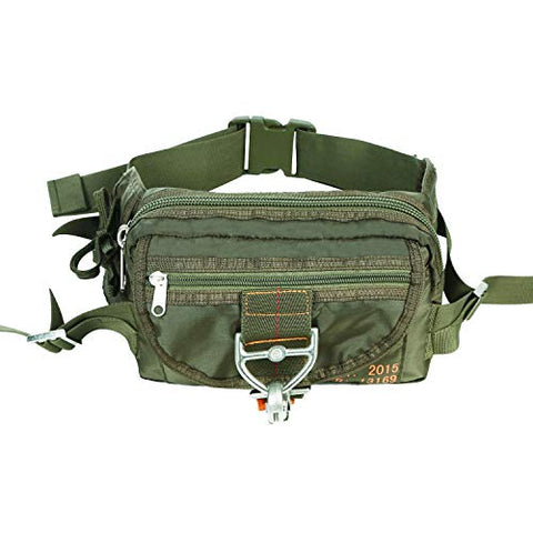 ARYMCAMOUSA US Airforce Style Deployment Bag #1 Parachute Buckles Hook Water Resistant Rucksacks Nylon Military Waist Hiking Fanny Pack for Carrying Vital Gear or Small Equipment