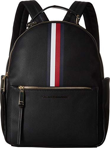 Tommy Hilfiger Women's Althea Pebble PVC Backpack Black One Size