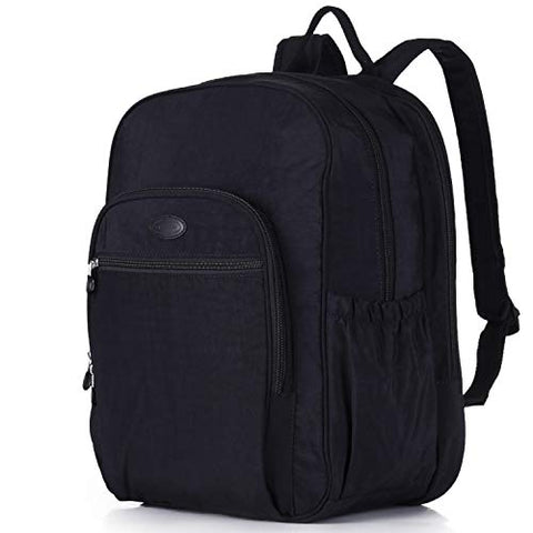 Nylon Casual Travel Daypack Backpack With 15.6 Inch Laptop Compartment, With Trolley Strap, Large