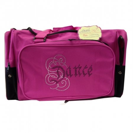 Sassi Designs Calligraphy Bling Dance Duffel Bag - Pink