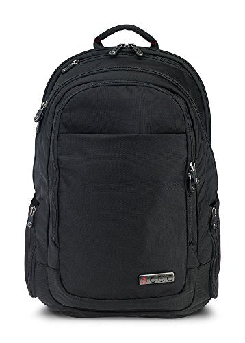 "ECBC Backpack Computer Bag - Lance Daypack for Laptops, MacBooks & Devices Up to 16.5"" - Travel, School or Business Backpack for Men & Women - Premium Quality, TSA FastPass Friendly - Black (B7103-10)"