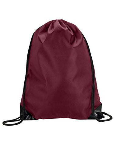 8886 Ultraclub® Value Drawstring Pack - Maroon - One