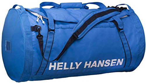 Helly Hansen Duffel 2 Water Resistant Packable Bag with Optional Backpack Straps, 90-liter (Large), 535 Racer Blue