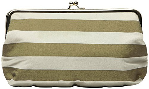 C.R. Gibson Wedding Day Travel Emergency Kit Clutch, Gold Stripe, One Size