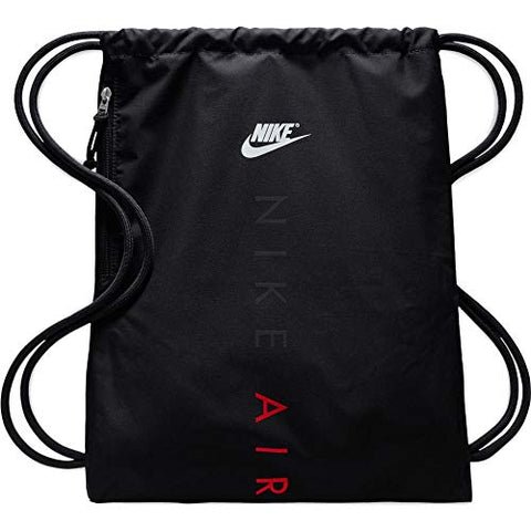 Nike Heritage Gym Sack, Black/Black/University RED