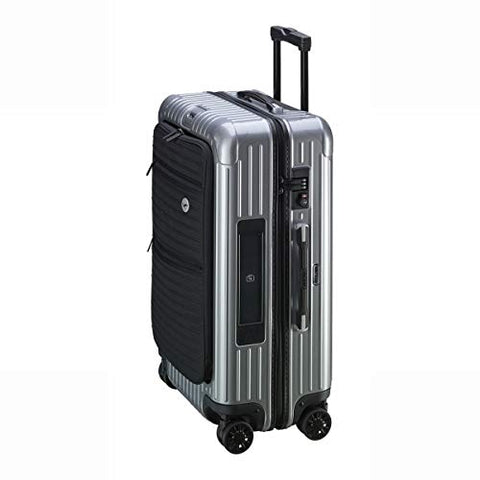 RIMOWA Lufthansa Bolero Collection Multiwheel L Trolley with RIMOWA Electronic Tag, Silver 64L