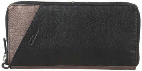 Derek Alexander Full Zip Travel Wallet, Black/Bronze, One Size