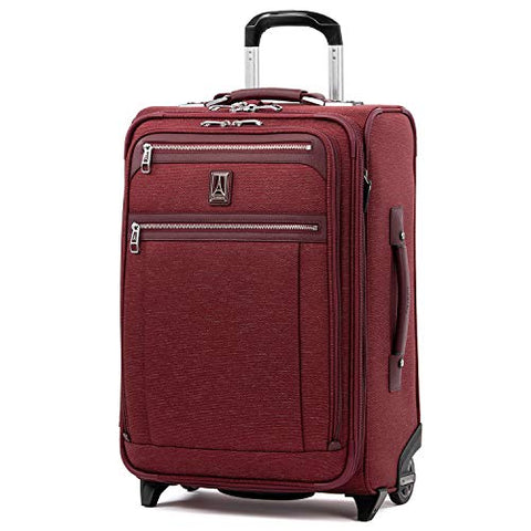 "Travelpro Luggage Platinum Elite 22"" Carry-On Expandable Rollaboard W/Usb Port, Bordeaux"