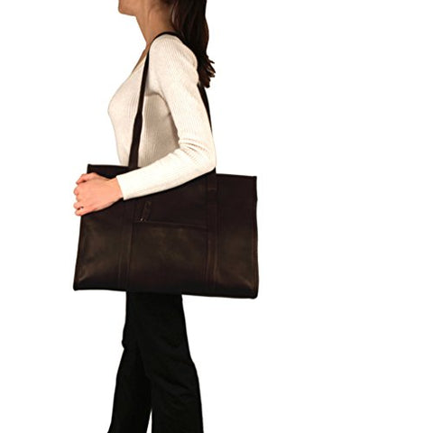 Urban Tote Bag From Latico Leathers, 100 Percent Luxury Leather, Black