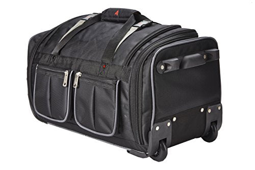 Athalon Luggage 29 Inch 15-Pocket Duffel Bag, Black