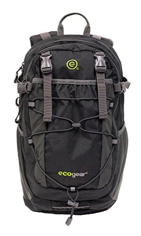 EcoGear Grizzly, Eco Friendly Laptop Travel Backpack, Asphalt One Size