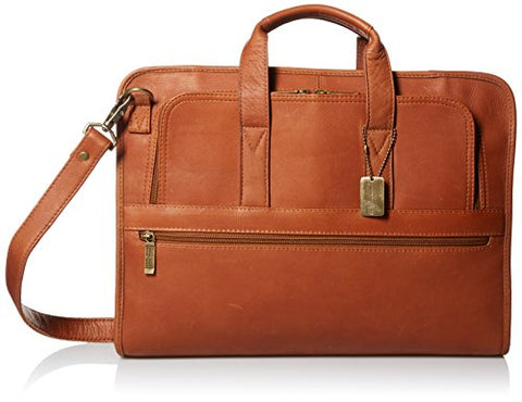 Claire Chase Sydney Briefcase, Saddle, One Size