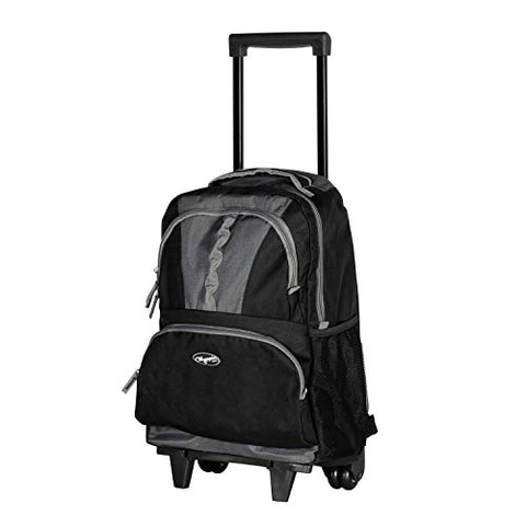 "Olympia Luggage 18"" Rolling Backpack, Black, One Size"