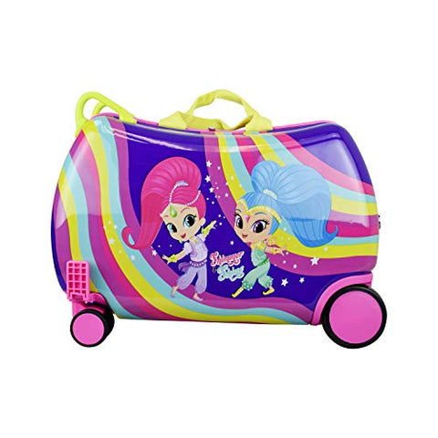 "Nickelodeon Shimmer and Shine""Rainbow"" - Carry On Luggage"" Kids Ride-On Suitcase"