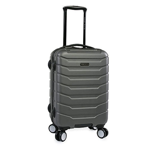 Perry Ellis Traction Hardside Spinner Carry on Luggage, Charcoal