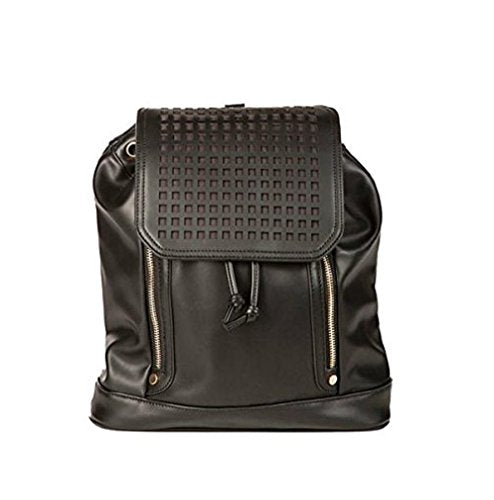 Hang Accessories Zadie Perforated Black Backpack