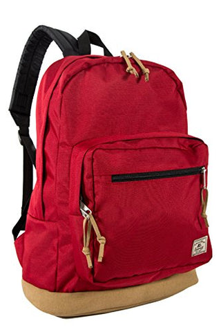 Everest Suede Bottom Daypack With Laptop Pocket Backpack, Red, One Size