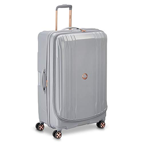 DELSEY Paris Eclipse DLX Expandable Luggage with Spinner Wheels, Harbor Gray, Checked-Large 29 Inch
