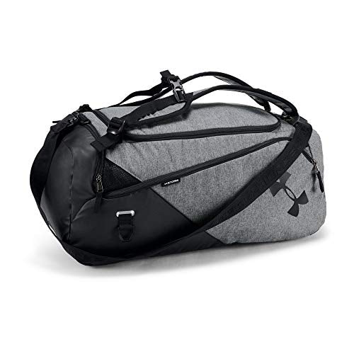 Under Armour Contain 4.0 Backpack Duffle, Graphite Medium Heat (040)/Black, One Size