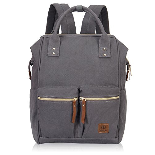 Veegul Stylish Doctor Style Multipurpose Canvas School Travel Backpack For Men Women Dual Pockets