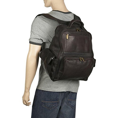 0014f47a3dd0 David King Leather Large Computer Backpack In Cafe