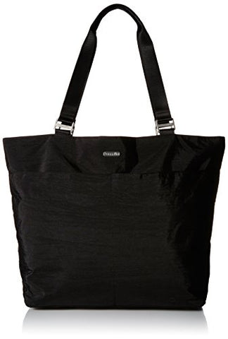 Baggallini Carryall Travel Tote Bag, Black/Sand, One Size