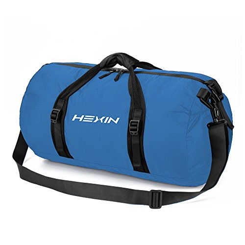 HEXIN Carry On Bag Travel Duffel Tote Unisex Weekender Bag Blue