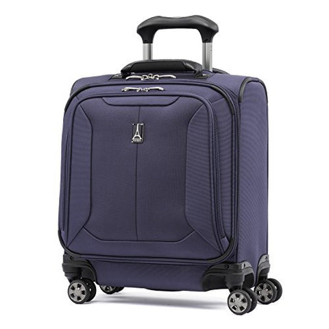 "Travelpro Skypro Lite 17"" Expandable 8-Wheel Carry On Spinner Compact Boarding Bag (Navy)"