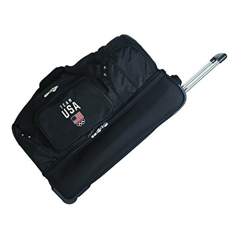 Team USA Olympics Rolling Drop-Bottom Duffel