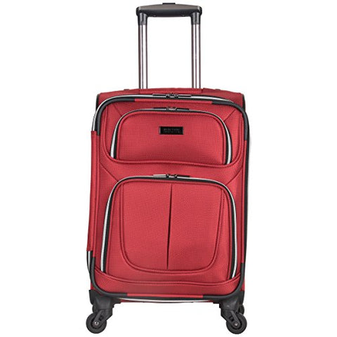"Kenneth Cole Reaction Lincoln Square 20"" 1680d Polyester Expandable 4-Wheel Spinner Carry-on Luggage, Red"