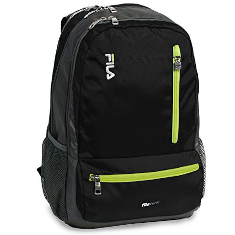 Fila Nexus 5 Pocket School Laptop Tablet Backpack, Black