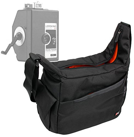 Duragadget Premium Quality Satchel-Style Messenger Bag In Black & Orange For The Lomography