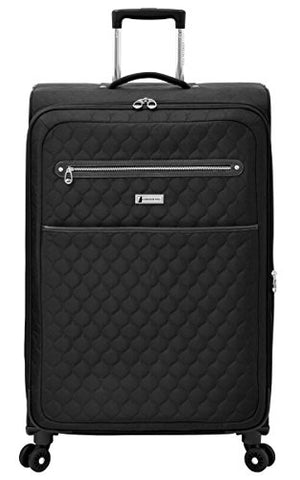 "London Fog Calypso 28"" Expandable Spinner, Black"